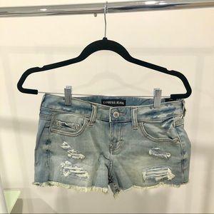 NWT Express Denim Jean Shorts Low Rise size 2.
